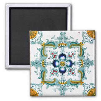 Tejas de la mayólica de Nouveau del arte Imán Cuadrado