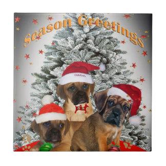 Tejas de las Felices Navidad de Puggle