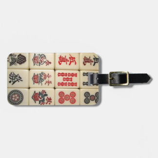 Tejas de Mahjong Etiquetas De Equipaje