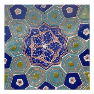 Tejas de Maiolica del azul y de la turquesa Comunicados