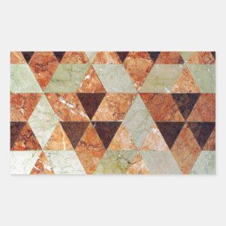 Tejas de mármol pegatina rectangular