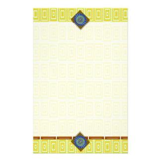 tejas de mosaico amarillo del color de fondo de la papeleria