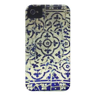 Tejas de mosaico de Guell del parque de Gaudi Barc iPhone 4 Cobertura