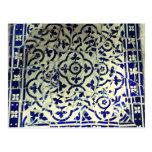 Tejas de mosaico de Guell del parque de Gaudi Barc Tarjetas Postales