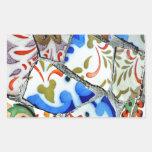 Tejas de mosaico de Guell del parque de Gaudi Rectangular Pegatina