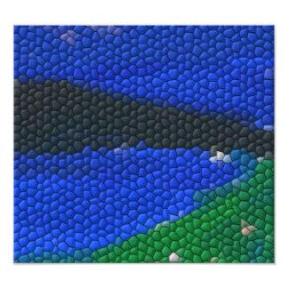 Tejas de mosaico de la pintura fotografía