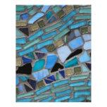 Tejas de mosaico del azul y del verde