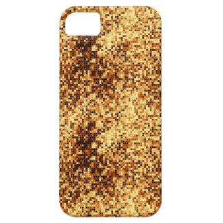 Tejas de mosaico del oro iPhone 5 Case-Mate carcasa