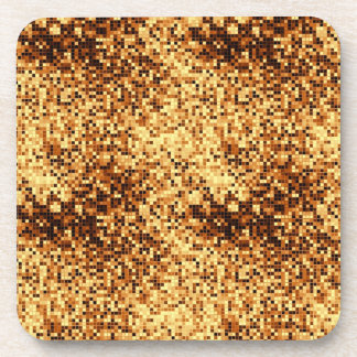 Tejas de mosaico del oro posavasos de bebida