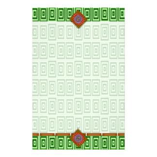 tejas de mosaico del verde de mar del color de fon  papeleria
