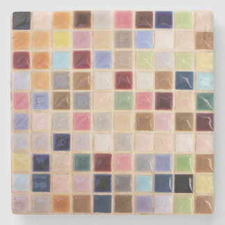 Tejas de mosaico del vintage posavasos de piedra