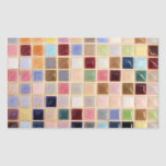 Tejas de mosaico del vintage rectangular altavoz