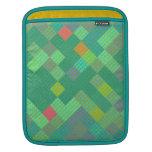 Tejas de mosaico en sombras del verde funda para iPads