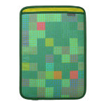 Tejas de mosaico en sombras del verde fundas MacBook