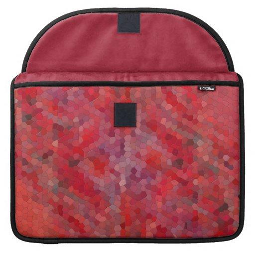 Tejas de mosaico rojas fundas macbook pro