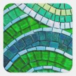 Tejas de mosaico verdes pegatina cuadradas personalizada