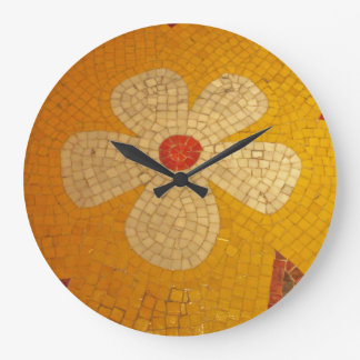 tejas de mosaicos reloj redondo grande