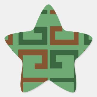 Tejas de Navidad Pegatina En Forma De Estrella