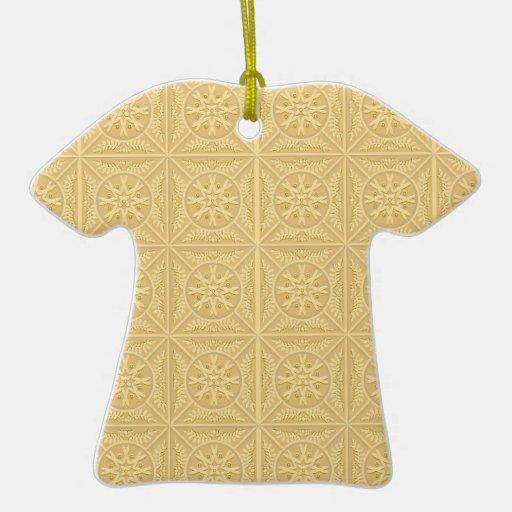 Tejas de oro adorno de cerámica en forma de playera