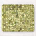 tejas de oro verdes tapetes de ratones
