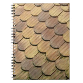 Tejas de tejado libretas