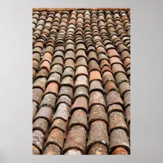 Tejas de tejado póster