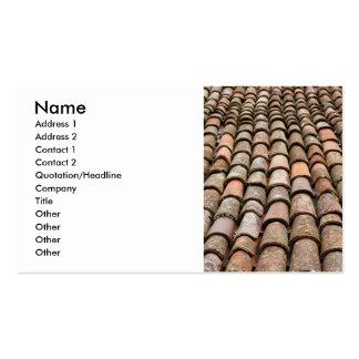 Tejas de tejado tarjetas de visita