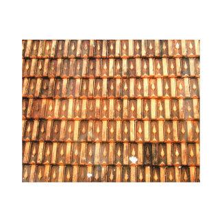 Tejas de tejado vietnamitas de la terracota impresión de lienzo