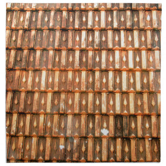 Tejas de tejado vietnamitas de la terracota servilletas imprimidas