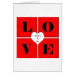 Tejas del amor tarjeta de felicitación