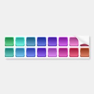 Tejas del arco iris etiqueta de parachoque