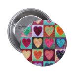 Tejas del arte del corazón pin
