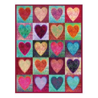 Tejas del arte del corazón postales