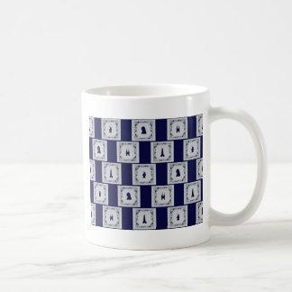 Tejas del azul de Delft del collage Taza De Café