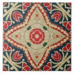 tejas del Batik-estilo, estampado de flores, rojo,