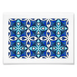 Tejas del corazón inspiradas por el azul de Azulej Fotografias