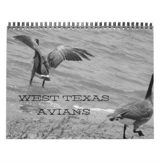 Tejas del oeste Avians Calendarios