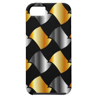 Tejas del oro y de la plata iPhone 5 Case-Mate fundas