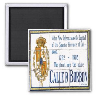 Tejas del St. de Borbón Imán Cuadrado