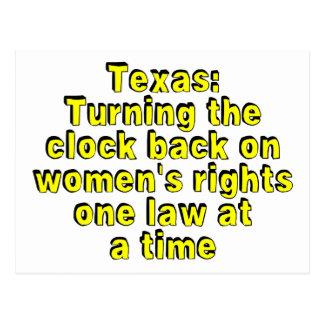 Tejas: Devolviendo el reloj en las derechas de las Postales