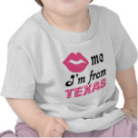 Tejas divertido camiseta