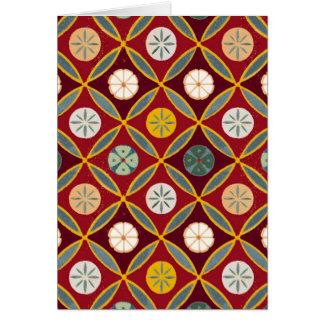 Tejas egipcias rojas tarjetas