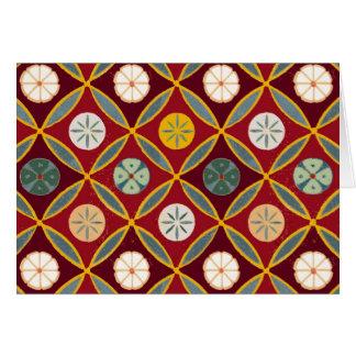 Tejas egipcias rojas tarjeta de felicitación