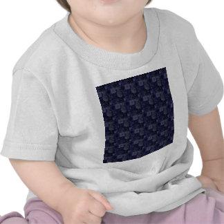 Tejas en azul camisetas