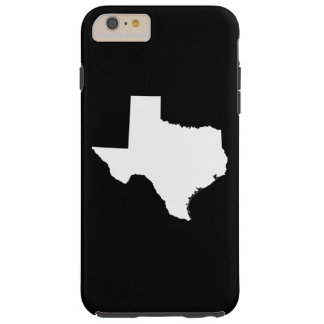 Tejas en blanco y negro funda de iPhone 6 plus tough