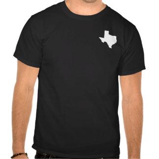 Tejas en blanco y negro camiseta