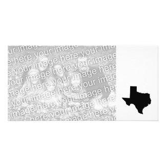 Tejas en blanco y negro tarjeta fotografica personalizada