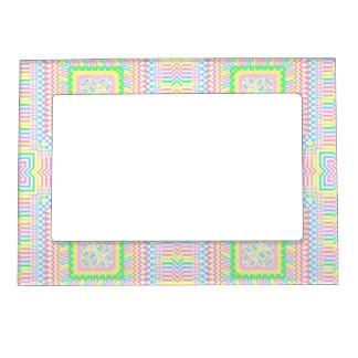 Tejas en colores pastel artsy marcos magnéticos para fotos