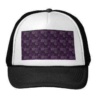 Tejas en púrpura gorros bordados