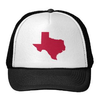 Tejas en rojo gorra